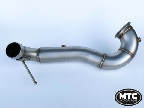 "MTC MOTORSPORT Mercedes CLA45 AMG 3.5"" DECAT DOWNPIPE EXHAUST"