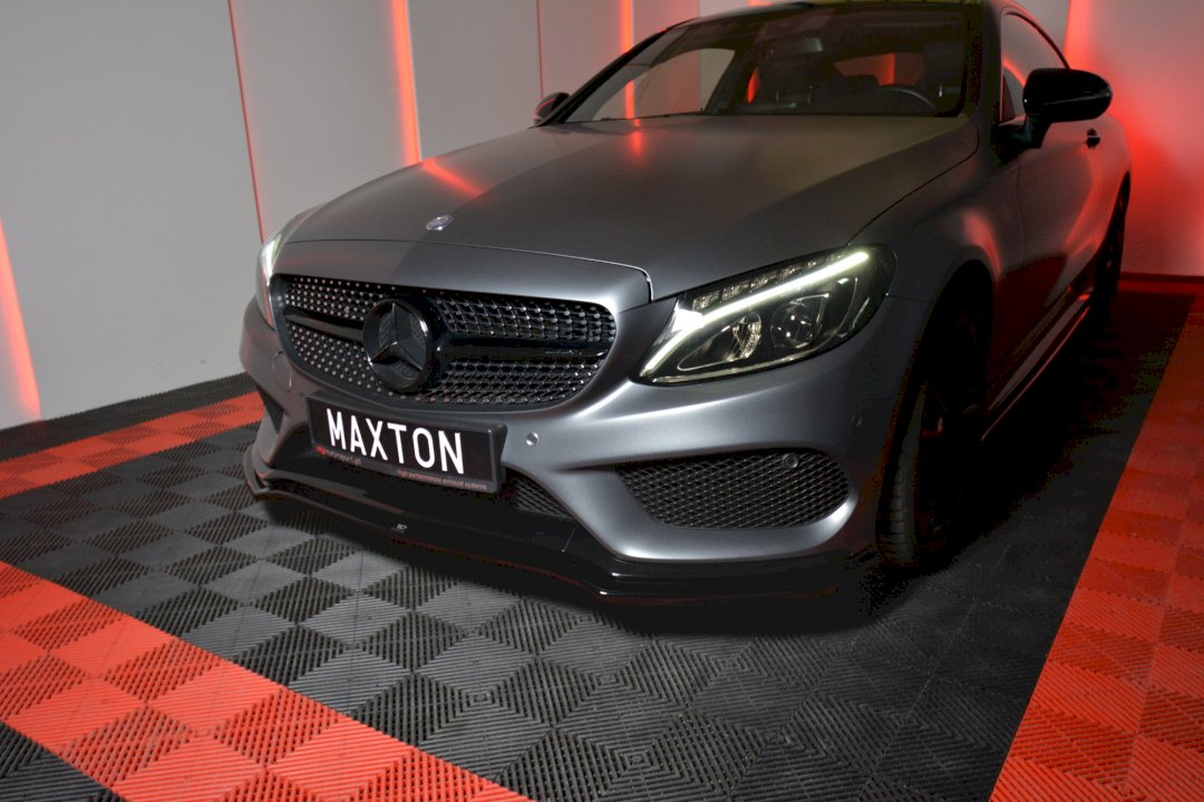 Maxton Design Front Splitter MERCEDES C-CLASS W205 COUPE AMG-LINE (2015-2018)