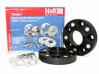 H&R DRA Series Trak Spacers - 50mm (1 Pair) Black Mercedes Benz PCD: 5X130
