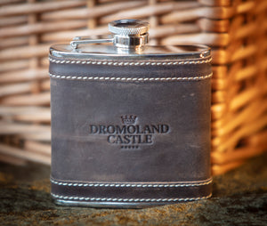 Dromoland Leather Hip Flask