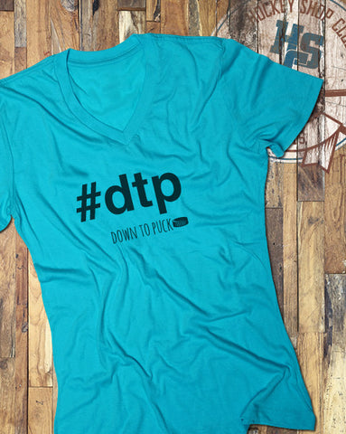 """Down to Puck"" Ladies V-Neck Shirt"