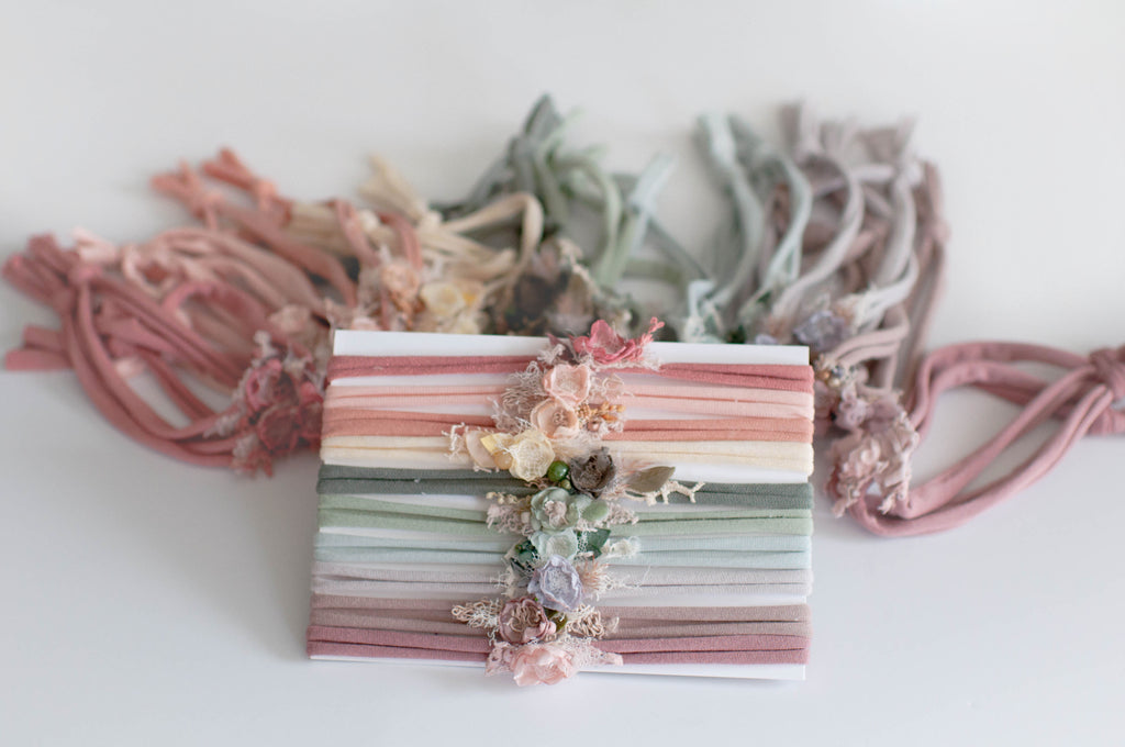 Muted Pastel Dainty Headband Bundle