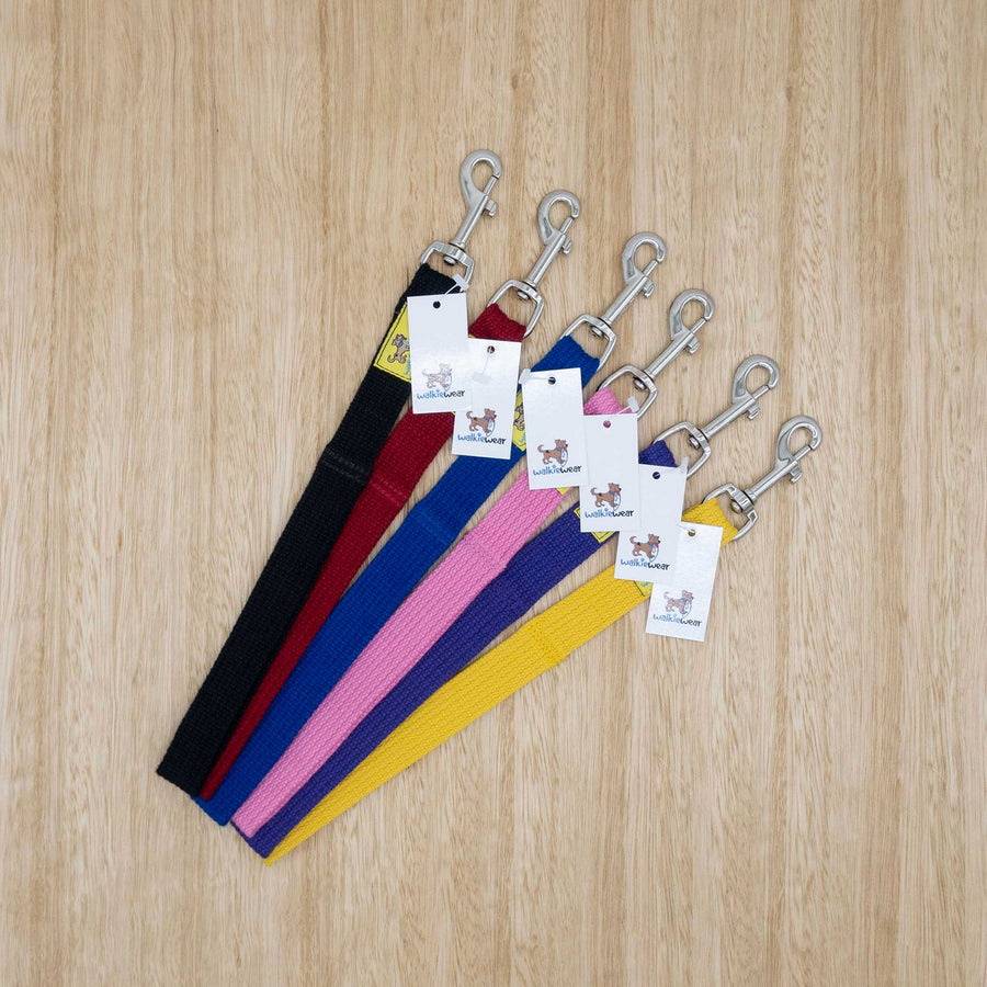 25mm x 0.3 metre Webbing Lead with Large Clip - Give Paws