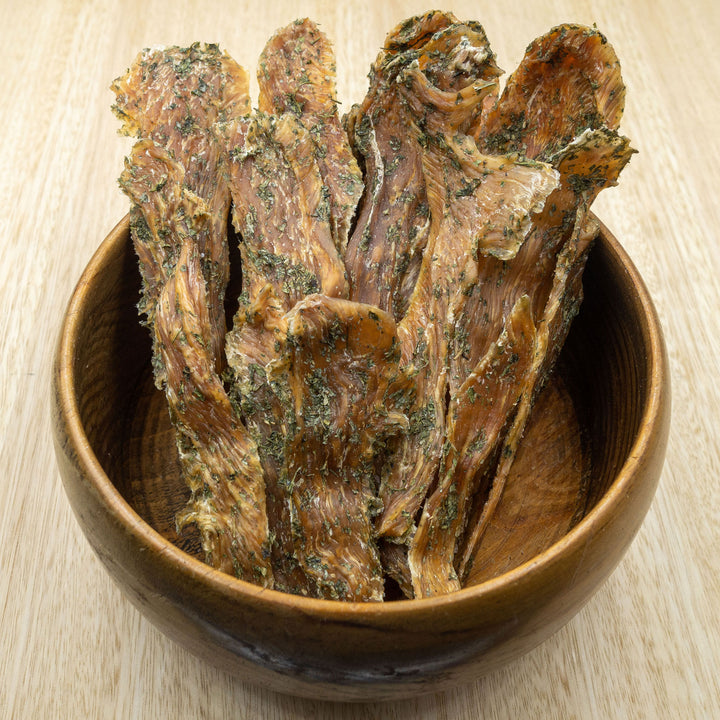 Parsley Chicken Breast Jerky - Give Paws