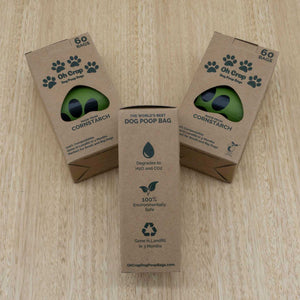 Oh Crap 100% Compostable Dog Poop Bags - Give Paws