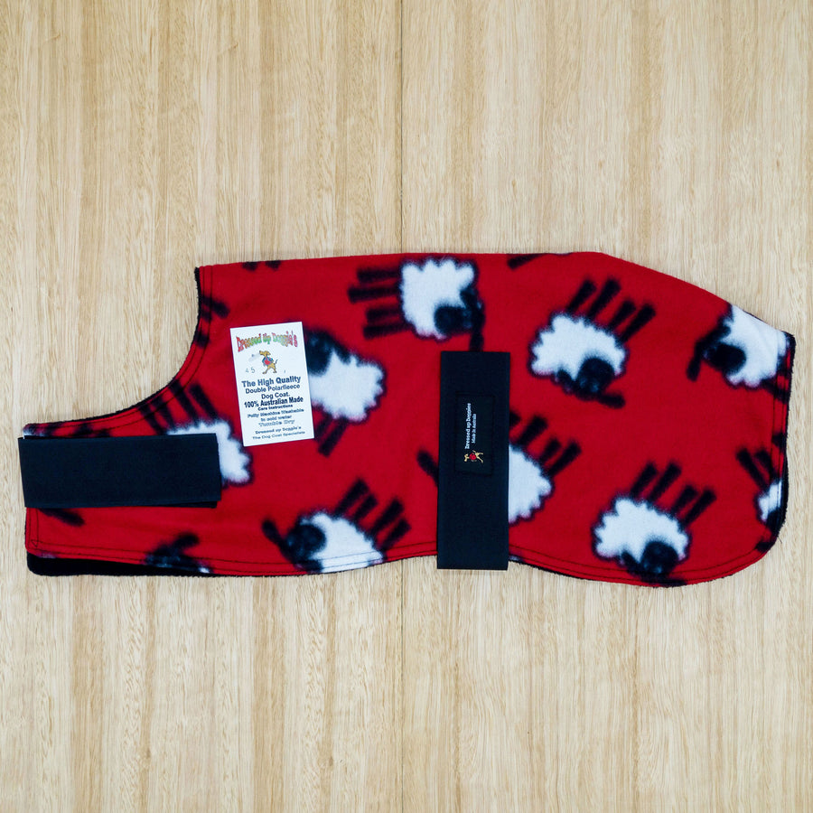 45cm Double Fleece Dog Coat - Give Paws