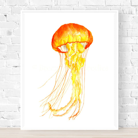 Luminous Jellyfish Print