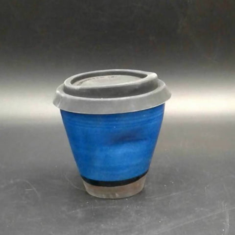 Blue reusable takeaway cup
