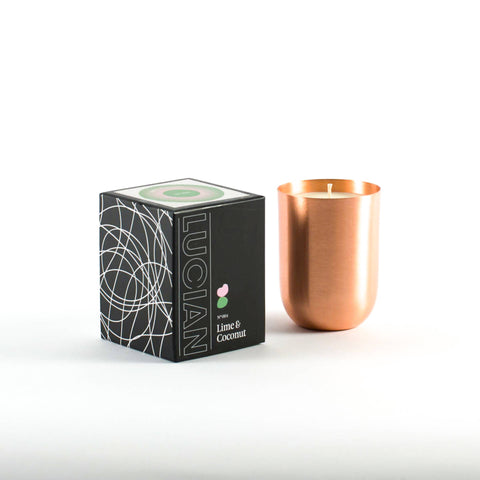 Lime & Coconut Copper Candle