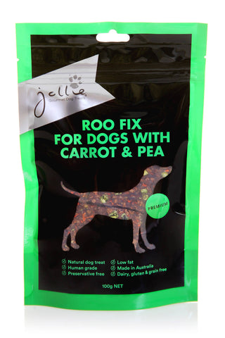 Roo Fix for Dogs with Carrot & Pea 100g Pouch