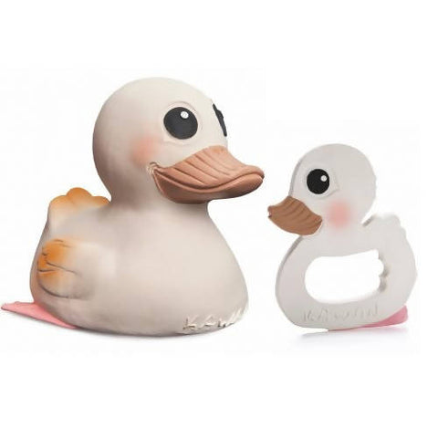 Natural Rubber Teether Duck Combo