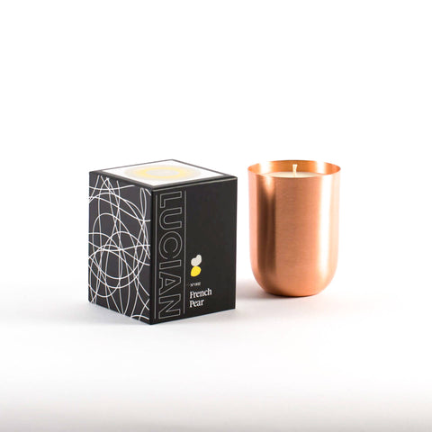 French Pear Copper Candle