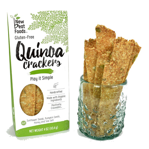 New Beat Foods Quinoa Crackers - Play It Simple