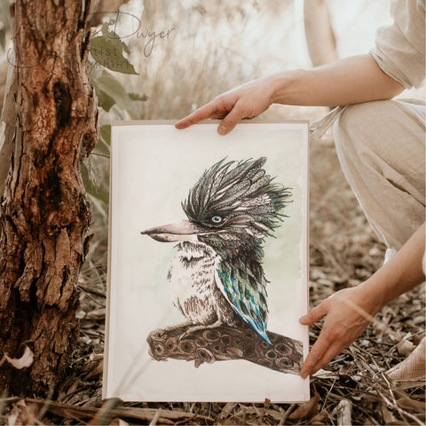 'Kooks' the Blue-winged Kookaburra