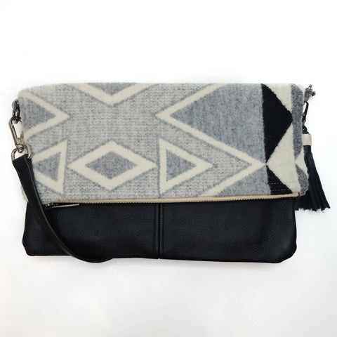 Wool Pendleton FOLD OVER HIP BAG
