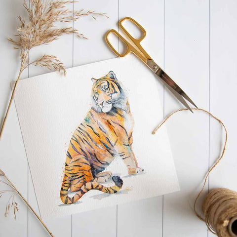 Tiger print by Stephanie Elizabeth Artwork