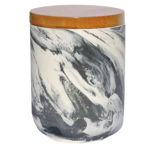 Hand Made Soy Wood Wick Candle Marble Look - Lemon Myrtle
