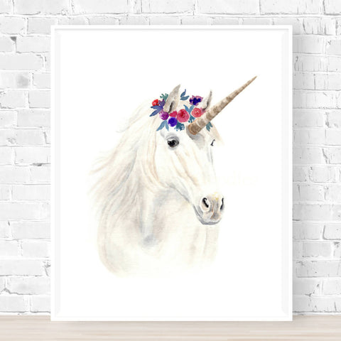 Aurora the Magical Unicorn Print