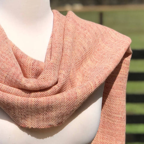 Slow Fashion Coral Shawl
