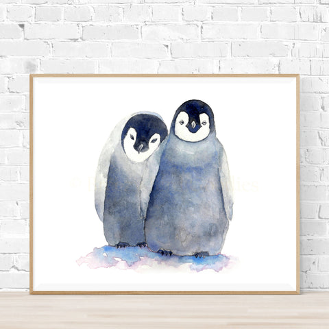 Loving Penguins Print