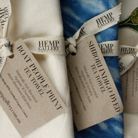 Hemp Tea Towels Twin Pack