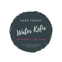 Dark Forest Sparkling Water Kefir - Raspberry and Pear