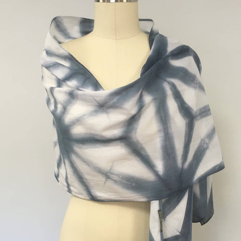 Shibori scarf by Sylvia Riley