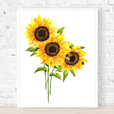 Amazing Sunflowers Print