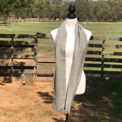 Pure Alpaca Scarf for Men or Women in Light Grey