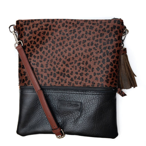 NIGHT LEOPARD BUCKET BAG - BLACK