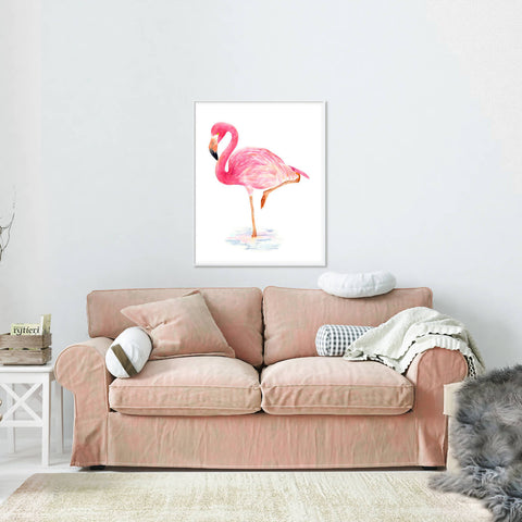 Standing Up Tall - Flamingo Print