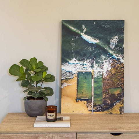 "20"" x 30"" Austinmer Ocean Pool Canvas"