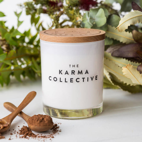 Cacao & Amber Soy Wax Scented Candle Large