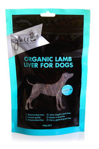 Organic Lamb Liver for Dogs 100g Pouch