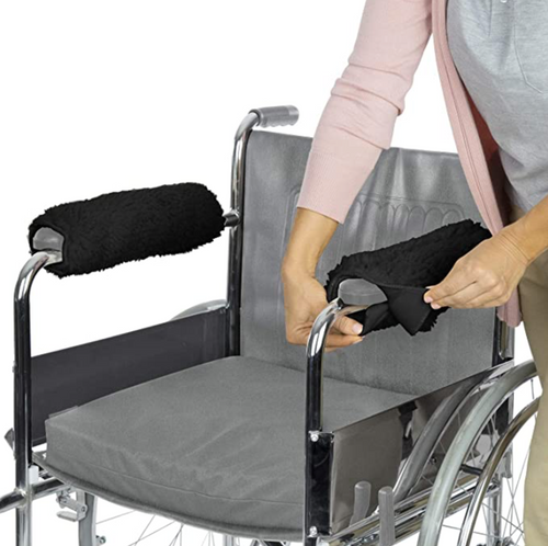 Wheelchair Arm Rest Covers (Black)