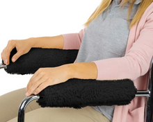 Load image into Gallery viewer, Wheelchair Arm Rest Covers (Black)