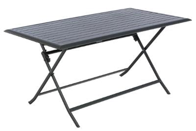 TABLE PLIANTE RECTANGULAIRE AZUA GRIS FONCE 6 PL HESPERIDE