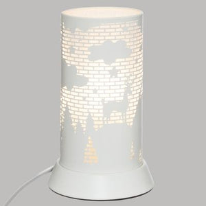 LAMPE DECOR METAL BLANC