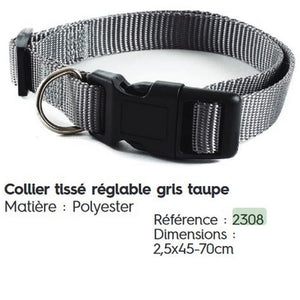 Collier réglable polyester
