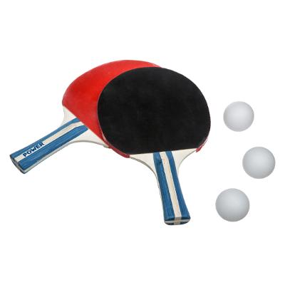 RAQUETTES PING PONG X 2 + 3 BALLES