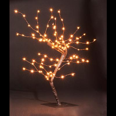 ARBRE LUMINEUX 100 LED COPPER BLANC CHAUD H45CM