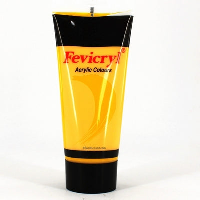 TUBE ACRYLIQUE 200ML JAUNE
