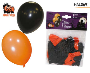 25 BALLONS ORANGE+NOIR