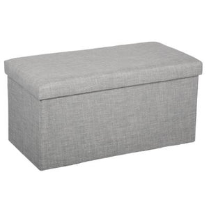 POUF 2 PLACE GRIS MOYEN ATMOSPHERA