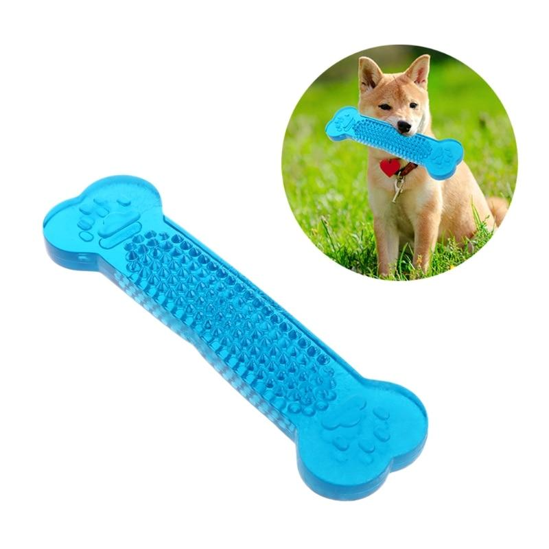 New Pet Toy Dog Cat Bone Grinding Bite Chew Health Teeth Stick Silicone Color Random 090