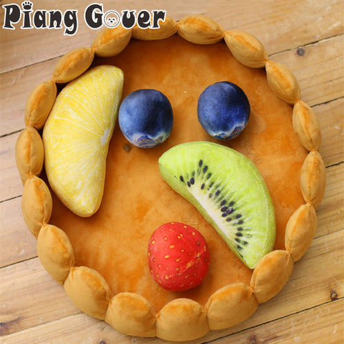 Plush Pet Bed Fruit Egg Tart