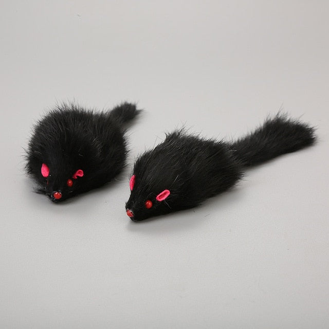 1Pcs 18cm Cat Pet Toys Real Fur