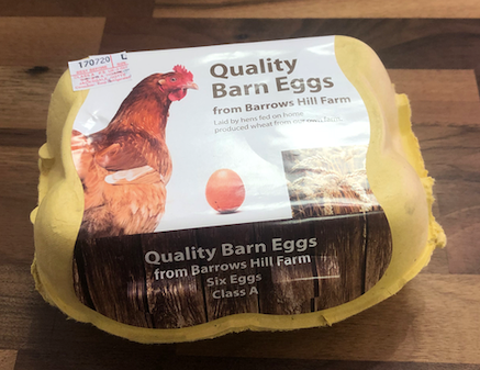 Large Barn Eggs - pack of 6
