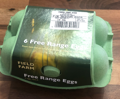 Medium free range eggs - pack of 6