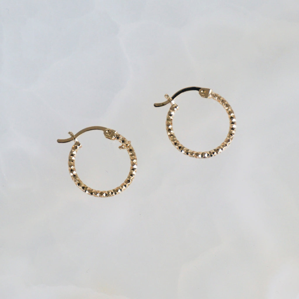 Diamond Texture Hoops